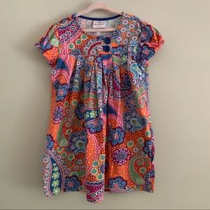 Hanna Andersson paisley button top dress size 6